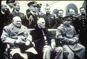yalta conference churchilll roosevelt stalin